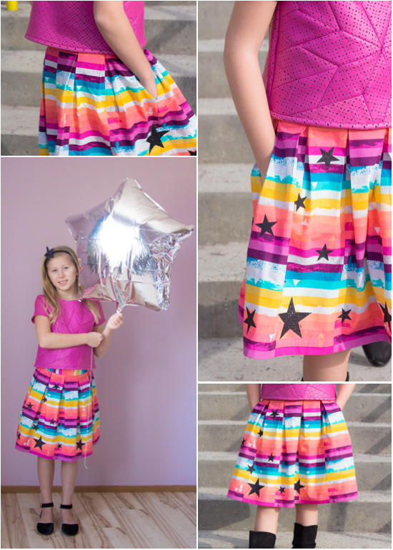 star skirt collage