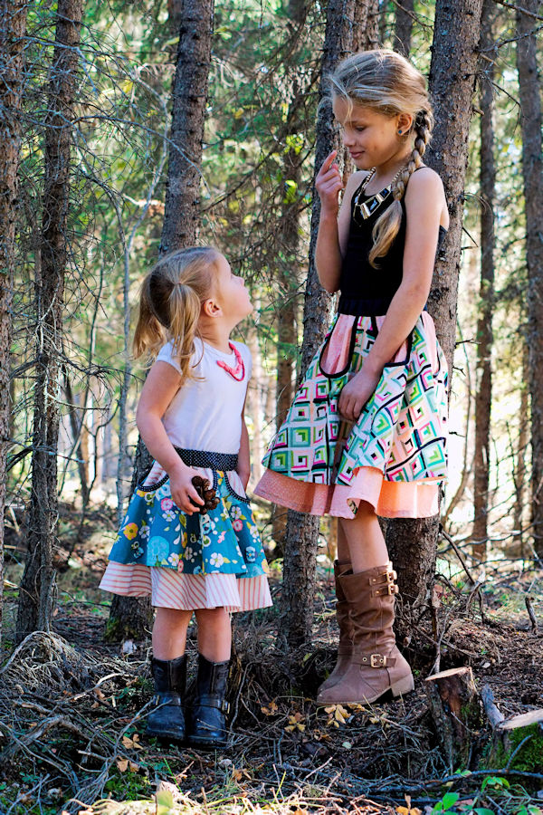 Pinecone skirt with optional cut outs with binding. Double layer circle skirt. Free with code in the Sofiona fan group on Facebook.