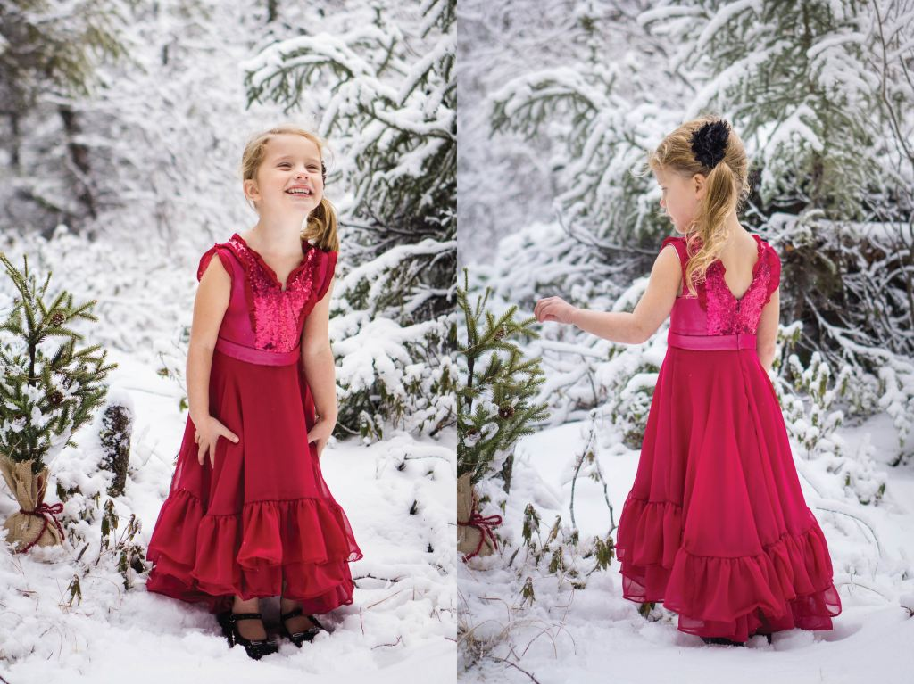 Fireweed Flounce Dress Girls PDF Sewing pattern.  Size 2-16 Sofiona Designs.  Elegant special occasion maxi dress with circle skirt.