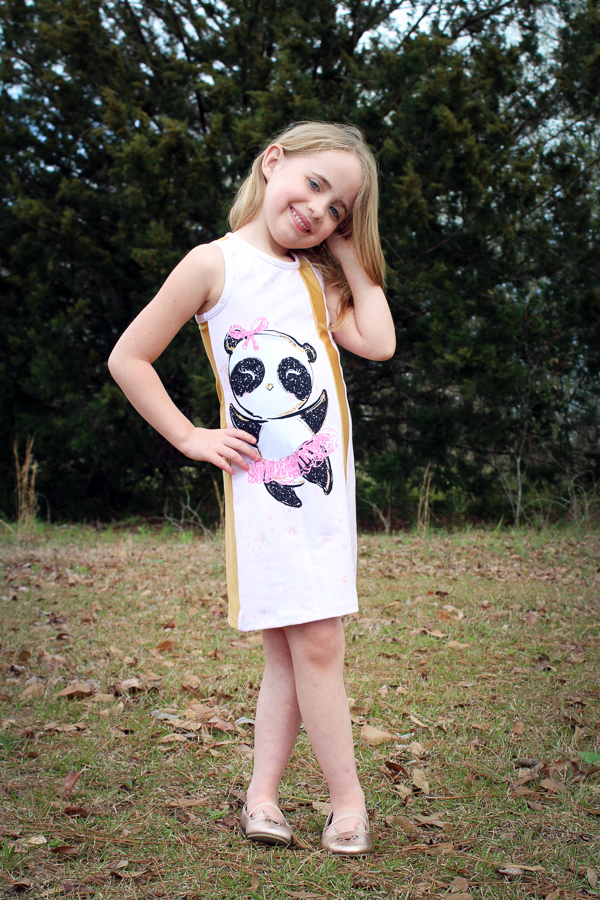 Cattail tank dress girls PDF sewing pattern from Sofiona Designs.  Great for panels and piecing!