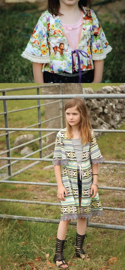 Girls cover up top PDF sewing pattern by Sofiona Designs.  Size 2-16.