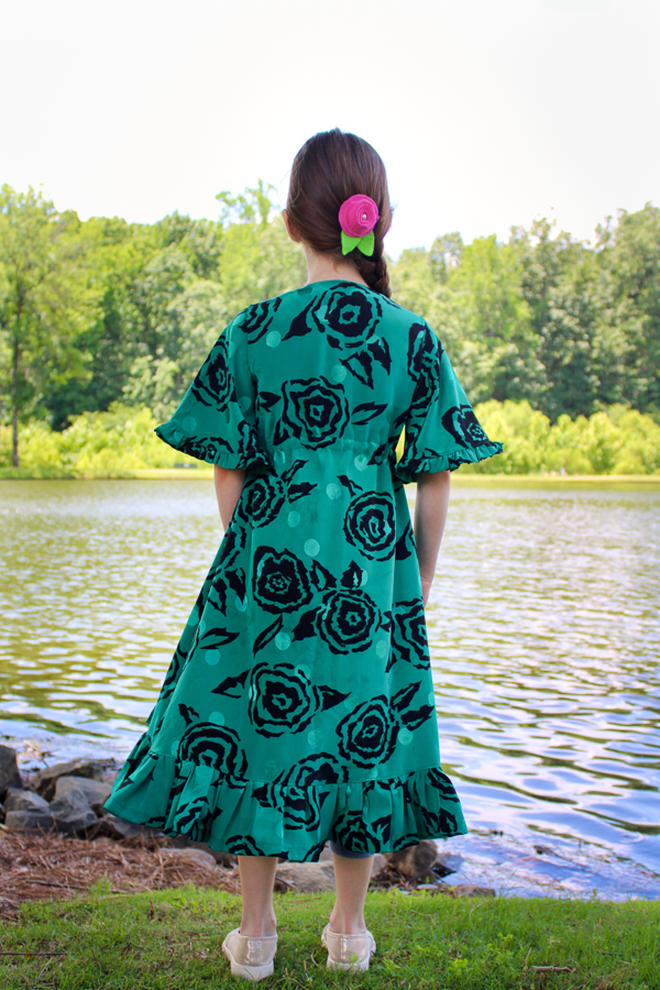 Girls lightweight cover up PDF sewing pattern in size 2-16 from Sofiona Designs