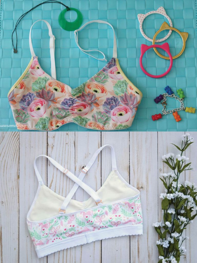 Adjustable straps and hooks for a versatile everyday undergarment. Wild Blueberry bralette PDF sewing pattern from Sofiona Designs.