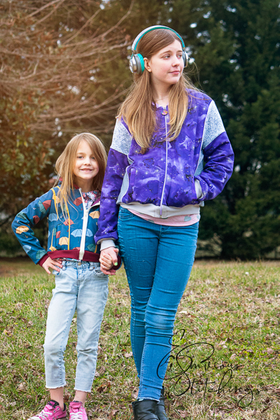 Rose Hip Bundle in view A and B with hood and welt pockets. Junior Miss sizes 0-20 and Girls' sizes 2-16 from Sofiona Designs.