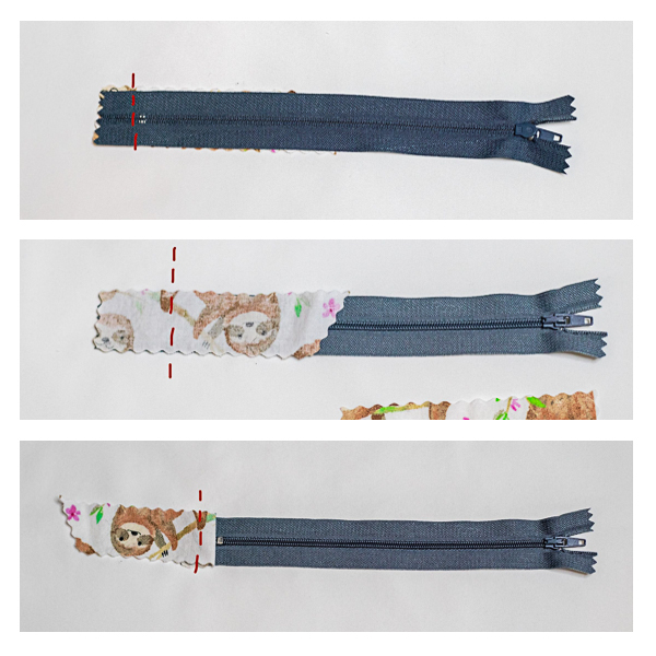 Adding length to a zipper for the Cloudberry laundry bag.