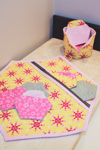 Perfect teen project or gift: re-usable make-up pads, storage basket and laundry bag.