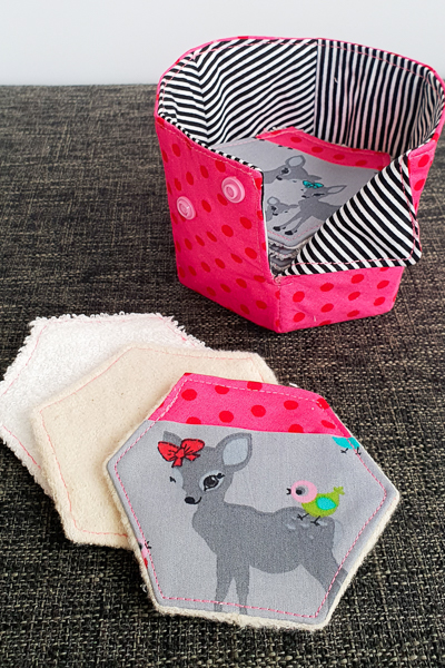 Adorable set of make-up remover pads and storage basket.  Perfect gift idea!