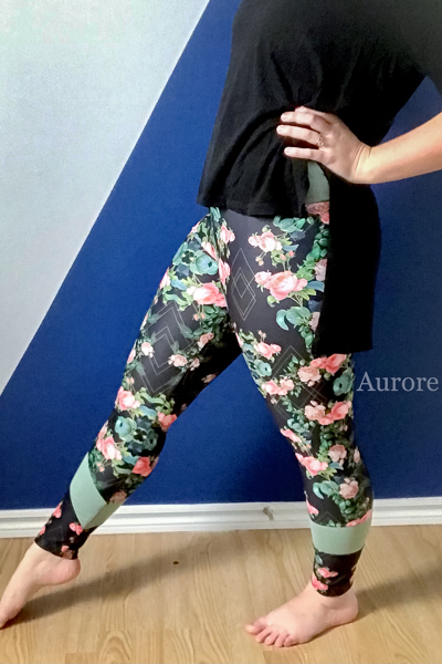 Miss Tamarack Tights by Sofiona Designs for sizes 0-20. Long cropped length, full upper and pieced ankle options.