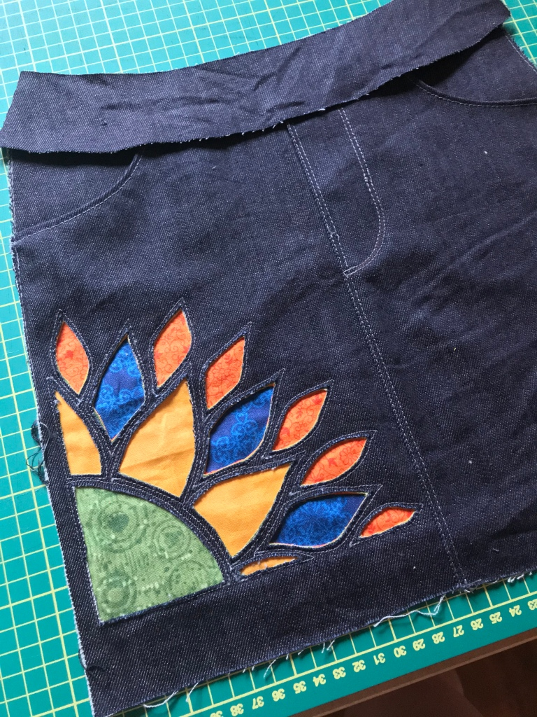 Reverse applique inspiration for the Bedrock skirt.