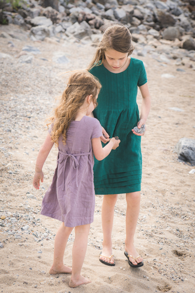 The Haze by Sofiona Designs for girls' sizes 2-16 in the dress length with waist ties.