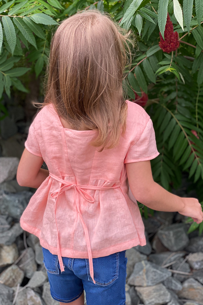 The Haze by Sofiona Designs for girls' sizes 2-16 in the top length and plain V back