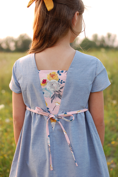 The Haze by Sofiona Designs for girls' sizes 2-16 in the dress length and plain V back.