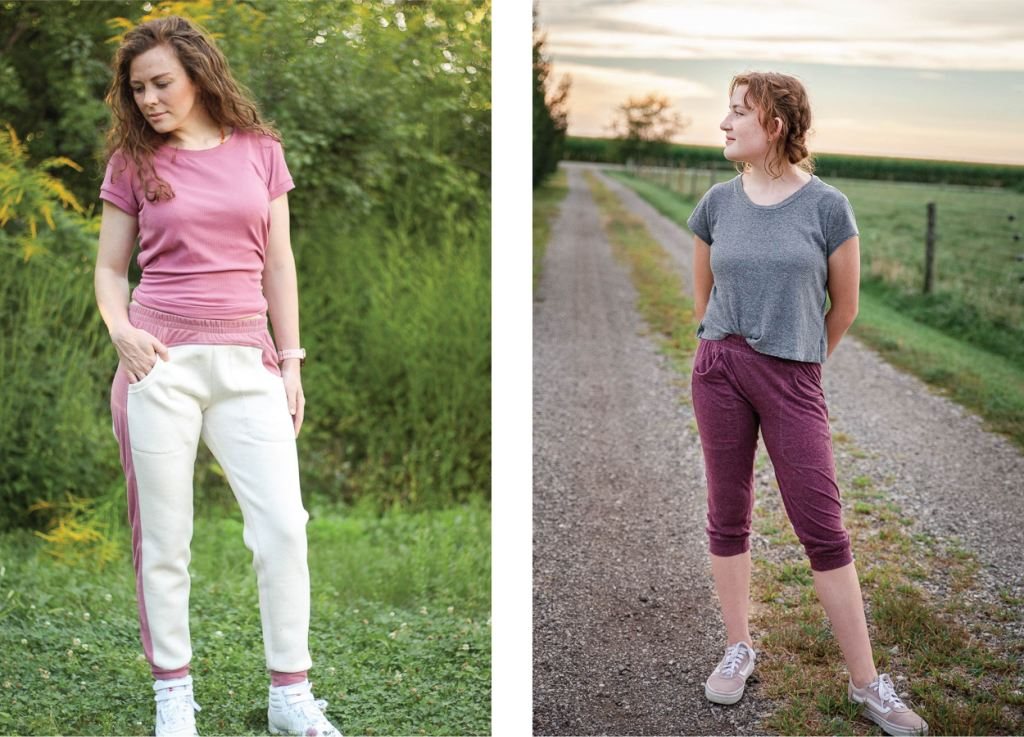 Cozy joggers in full and capris length.