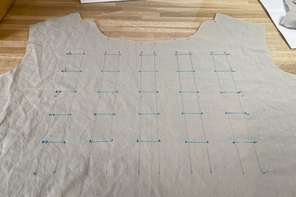 How to transfer bodice placement markings for the Miss Haze dress by Sofiona Designs.